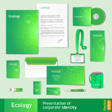 Corporate identity template, natural eco-friendly style royalty free illustration