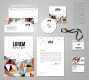 Corporate identity template in patch work colorful Stock Photos
