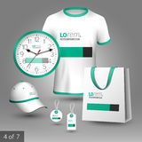 Corporate identity template and promotional gifts Royalty Free Stock Photo