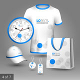 Corporate identity template and promotional gifts Royalty Free Stock Photography