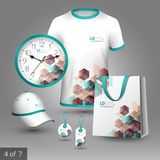 Corporate identity template and promotional gifts Royalty Free Stock Images