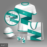 Corporate identity template and promotional gifts Stock Photos