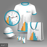 Corporate identity template and promotional gifts Stock Photography
