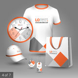 Corporate identity template and promotional gifts Royalty Free Stock Photos