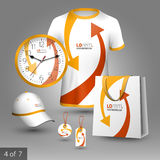 Corporate identity template and promotional gifts Royalty Free Stock Image