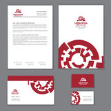 Corporate identity template for repair shop Stock Images