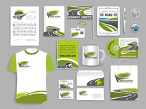 Corporate identity template for road build company Stock Images