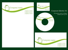 Corporate identity template - set 1. Ecology style corporate identity template.  More sets in my portfolio Royalty Free Stock Photos