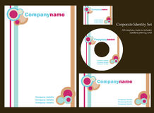 Corporate identity template - set 3. Retro corporate identity template.  More sets in my portfolio Royalty Free Stock Image