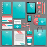 Corporate identity template set Stock Photo