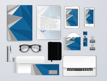 Corporate identity template set. Business stationery mock-up for branding design. Letter envelope, card, catalog, pen Stock Photo