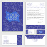Corporate identity template set. Business stationery mock-up Stock Photography