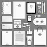 Corporate identity template set Royalty Free Stock Photos