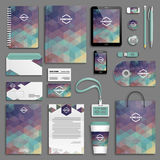 Corporate identity template set Royalty Free Stock Images
