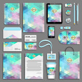 Corporate identity template set Stock Images
