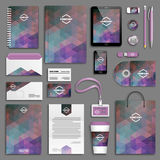 Corporate identity template set Royalty Free Stock Image