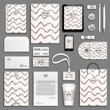 Corporate identity template set Stock Image