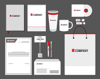 Corporate identity template set. Business stationery mock-up with logo. Branding design. Stock Photos