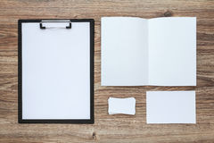 Corporate identity template set. Business stationery mock-up. Stock Images