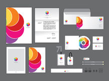 Corporate identity template set J Royalty Free Stock Photography