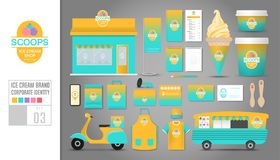 Corporate identity template Set 3. Logo concept for ice cream sh Royalty Free Stock Photos