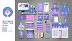 Corporate identity template Set 5. Logo concept for ice cream sh Royalty Free Stock Photography