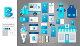 Corporate identity template Set 9. Logo concept for ice cream sh Stock Photo
