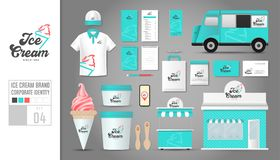 Corporate identity template Set 4. Logo concept for ice cream sh Royalty Free Stock Photography