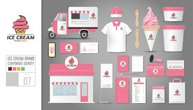Corporate identity template Set 7. Logo concept for ice cream sh Royalty Free Stock Photo