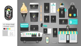 Corporate identity template Set 6. Logo concept for ice cream sh Royalty Free Stock Photo