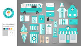 Corporate identity template Set 8. Logo concept for ice cream sh Royalty Free Stock Image
