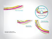 Corporate identity template set, vector Royalty Free Stock Photos