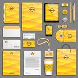 Corporate identity template set Stock Image