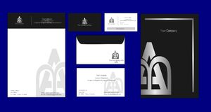 Corporate identity template silver style Royalty Free Stock Photos