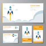 Corporate identity template startup Stock Photos