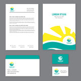 Corporate identity template Tourism Royalty Free Stock Photography