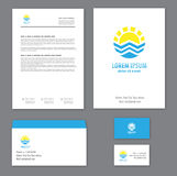 Corporate identity template Tourism Stock Image