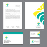 Corporate identity template Tourism Stock Images