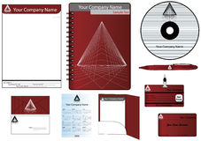 Corporate Identity Template Vector set 2010. Corporate Identity Template Vector set (calendar, almanac, card) 2010 stock illustration
