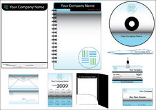 Corporate Identity Template Vector set. (calendar, almanac, card Stock Photography