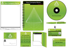Corporate Identity Template Vector set. (calendar, almanac, card Stock Photo