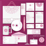 Corporate identity template violet mosaic pattern Stock Images