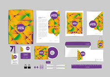 Corporate identity template for your business F Royalty Free Stock Photo