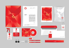 Corporate identity template for your business I Royalty Free Stock Photography