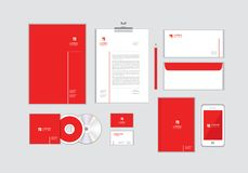 Corporate identity template for your business includes CD Cover, Business Card, folder, Envelope and Letter Head Designs No.9. Corporate identity template for royalty free illustration