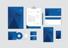 Corporate identity template for your business includes CD Cover, Business Card, folder, Envelope and Letter Head Designs No.10. Corporate identity template for royalty free illustration
