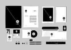 Corporate identity template for your business includes CD Cover, Business Card, folder, ruler, Envelope and Letter Head Designs T. Corporate identity template stock illustration