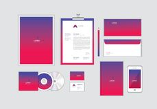 Corporate identity template for your business includes CD Cover, Business Card, folder, Envelope and Letter Head Designs No.11. Corporate identity template for royalty free illustration