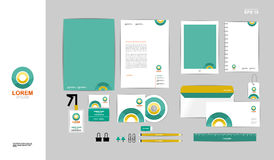Corporate identity template for your business A Stock Photography