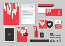Corporate identity template for your business includes CD Cover, Business Card, folder, ruler, Envelope and Letter Head Designs N. Corporate identity template stock illustration